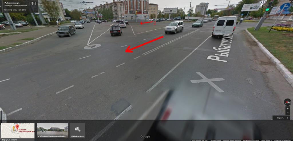 Перекрёсток ул. Рыбаковская\пр.Победы г.Оренбург